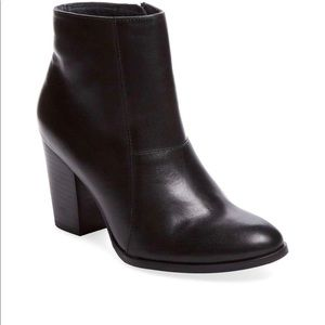 Seychelles Travels Leather Black Booties